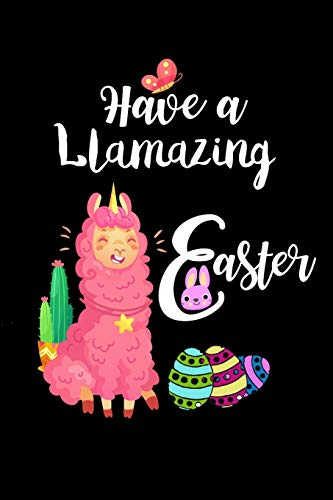 Have a Llamazing Easter: Cute Pink Llama Unicorn & Cactus Notebook Gift for Kids & Girls, Small Lined Travel Notebook (Hund Parka Small)