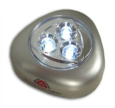 "Lunartec ""Stick & Push"" Light mit 3 weißen LEDs (silber) von Lunartec bei Lampenhans.de"