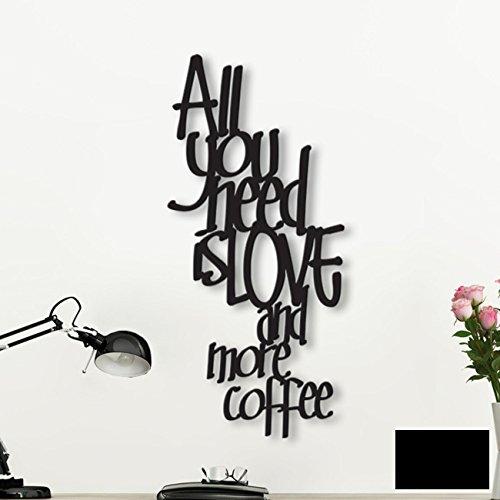 ilka parey wandtattoo-welt Wanddeko Dekoration Holz Holzschriftzug Schriftzug All You Need is Love. H024 ausgewählte Farbe: *schwarz* ausgewählte Größe: *L*