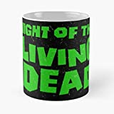 Night Of The Living Dead Classic Mug -11 Oz Coffee - Funny Sophisticated Design Great Gifts White-situen.