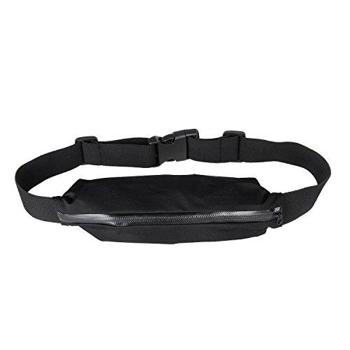 Bingsale Sport elastische Bauchtasche Hüfttasche gürteltasche- Ideales Sport-Accessoire zum Verstauen solcher Gegenstände, wie Handy, Schlüssel, MP3 Player, Portemonnaie usw. (schwarz) (Stoff-gegenstände-taschen)