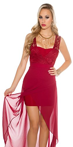 In-Stylefashion - Robe - Femme rouge rouge foncé L rouge foncé
