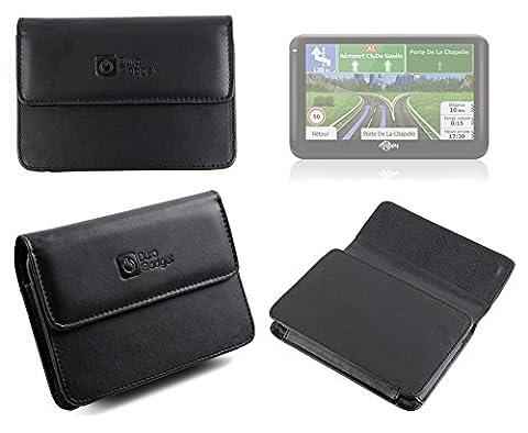 Etui housse de luxe en cuir véritable pour GPS Mappy Ulti 506, 507 & 508 Europe, 490 ND et ULTIX550 Truck de 5 pouces - par DURAGADGET