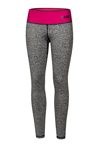 FITTECH GYM Damen Thermoaktiv Legging Leggins Strumpfhose Tights Laufhose Sporthose Lang Fitness Yoga Pilates Outdoor Radsport Running...