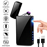 KIMILAR Briquet Rechargeable Électrique Briquet Electrique Double-Arc USB Coupe-Vent...