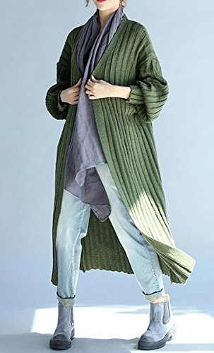 ELLAZHU Women Casual Soft V Neck Open Long Sleeve Knit Cardigan Sweater GA538 GA538 Vert