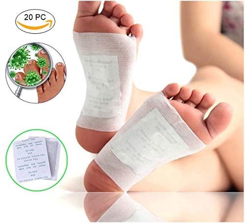Denfive® 20 Detox Fuß Pflaster zum Entschlacken und zur Entgiftung - Bambuspflaster zur Stärkung Ihrer Gesundheit - Detox Vital Pad Zum Abnehmen Auf Natürliche Art - Detox Pflaster