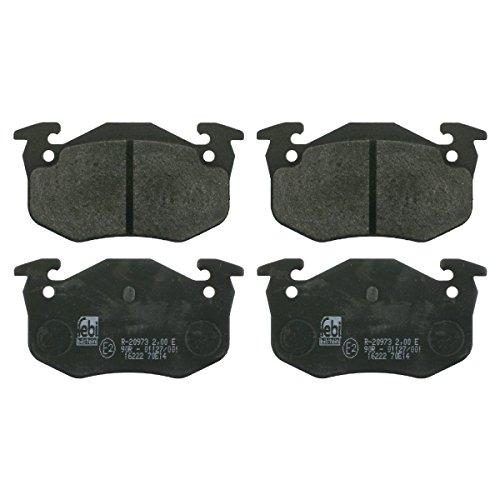 Preisvergleich Produktbild febi bilstein 16222 Bremsbelagsatz (hinten,  4 Bremsbeläge),  ohne Verschleißwarnkontakt