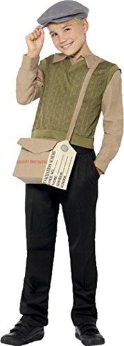 Kinder Buch, Woche Tag Fancy Kleid Kostüm Outfit Krieg Mal Evacuee Boy Kit, Grün