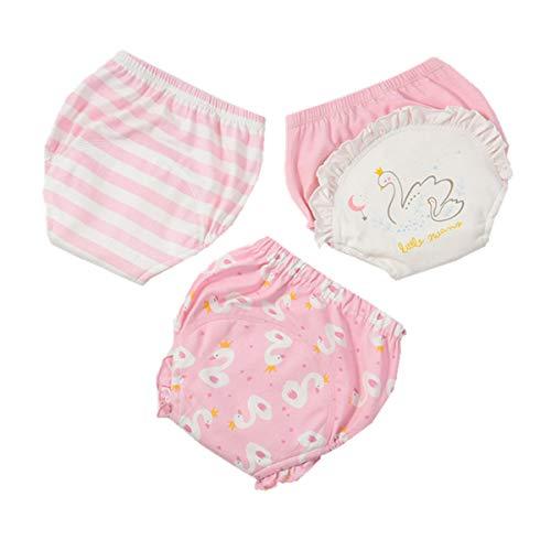 WINZIK 3er-Pack Kleinkind Baumwolle Toilettentöpfchen Trainingshosen waschbar wiederverwendbar Baby Jungen Mädchen Windelunterwäsche für 9M-3 Jahre Gr. M, Set 5#