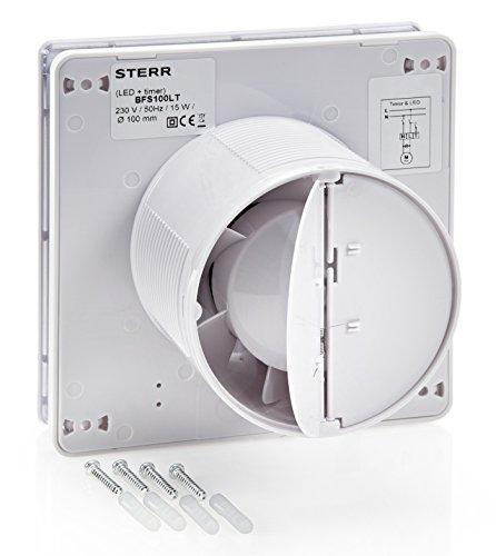 STERR - Aspiratore per bagno con retroilluminazione LED e timer ...