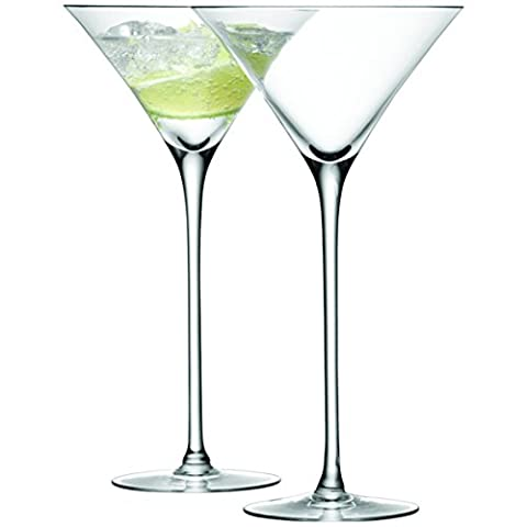 LSA International 275 ml Bar Cocktail Glass, Clear (Pack of 2)