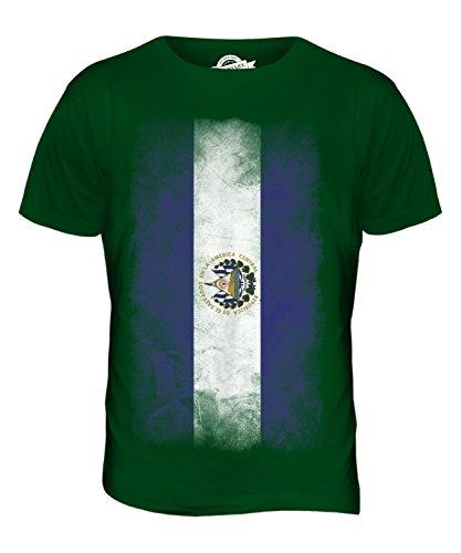 CandyMix El Salvador Verblichen Flagge Herren T Shirt Flaschengrün