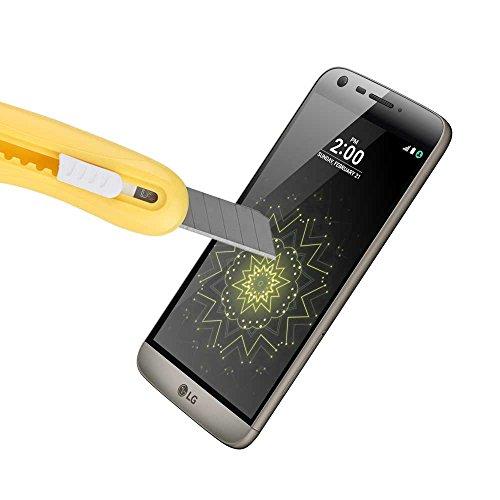 LG G5 3D vetro temperato Screen Protector [Full Coverage], Widamin® Premium Pellicole in vetro protettivo Ultra crystal per LG G5 - Nero