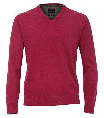 Casa Moda - Herren Pullover mit V-Ausschnitt in verschiedenen Farben (004130) Pflaume (974)
