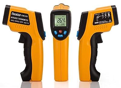 Peralng® Laser Infrarot Thermometer -50~380°C IR Infrarot Digital Temperature Berührungslose Messgerät Infrarotmesspistole LCD Digitalanzeige