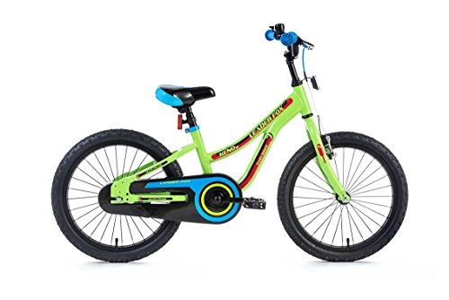 "18"" Zoll leichtes Aluminium Kinderrad Fahrrad LEADER FOX Keno grün MTB Bike RH 25"