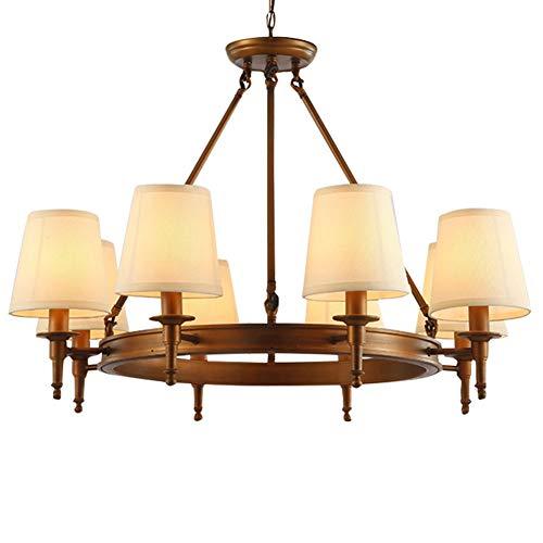 Kronleuchter Europäischen Messing Kronleuchter Asiatischen Pendelleuchte Bar Wohnzimmer E14 * 8 LED-Lichtquelle (Ohne Lichtquelle) (Größe: 8 Köpfe),a - Asiatischen Outdoor-beleuchtung