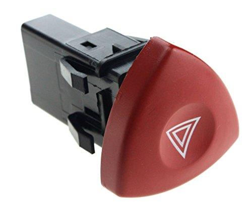 OE 8200442724 Hazard Warning Light Switch/Button Red Dash For Renault Laguna Test
