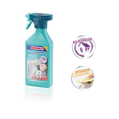 Leifheit Universalspray, Allzweckreiniger 500 ml, für alle Flächen, auch für Glas und Spiegel geeignet, Universalreiniger für den Haushalt, praktisch nachfüllbare Sprühflasche