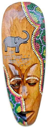 19.5 Large Wooden Wall Hanging - Handmade Wall Mask Handpainted Wall Art- Home Decor Wall Sculpture Diwali Decor Gifts