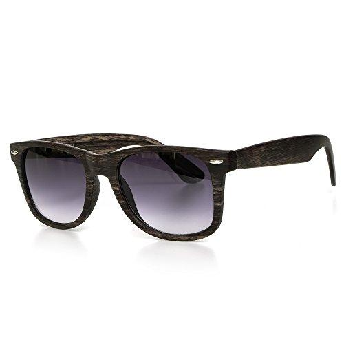 Sonnenbrille Holz Herren oder Damen Unisex Motorradbrille Retro Verspiegelt UV400 CAT 3 CE-Norm Gold...