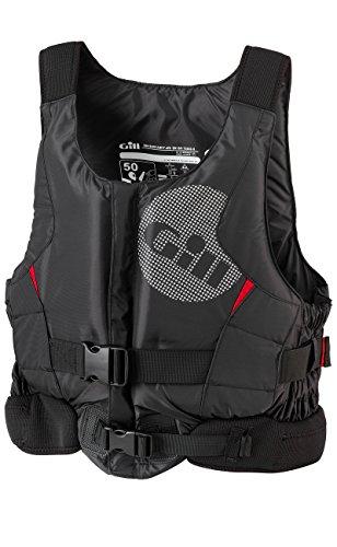 Gill Pro Racer Front-Kajak-Jolle Segeln PFD Auftriebshilfe für Wassersport Schwarz - Einfacher Front-RV-Zugang -