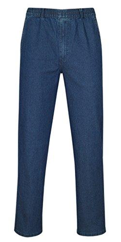 Herren Jeans Stretch Schlupfhose Schlupfjeans ohne Cargo-Taschen-Blue-L