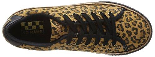 NONAME - Midnight Sneaker Print Leopard, Sneaker Donna Marrone (Marron (Golden Brown))