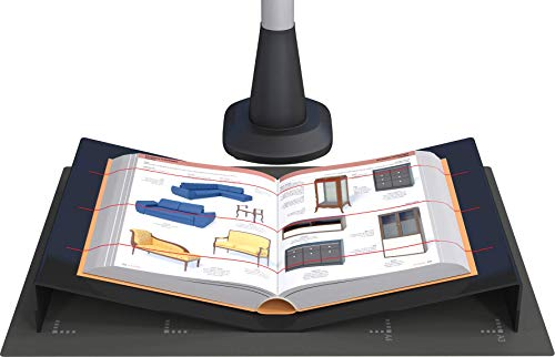 JOURIST Buchwiege für Aufsichtscanner und Buchscanner. Für Scanfläche bis A3. Aus schwarzem Acryl.