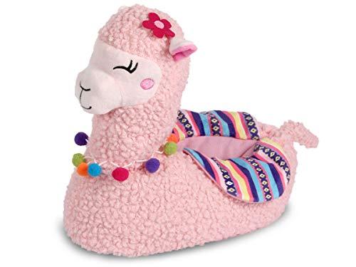 Alsino Lama Hausschuhe Alpaka Pantoffeln Größe: 37-42 Plüsch Schuhe Puschen Kuschel-Hausschuhe, Lama Farbe wählen:rosa, Größe :37-39