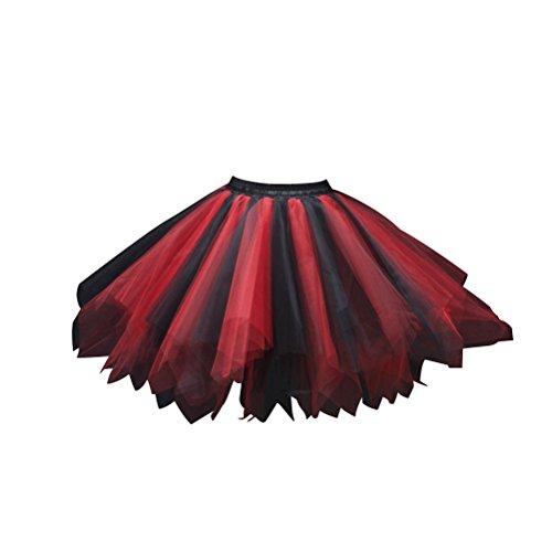 LUOEM Tutu Petticoat Ballett Blase Rock Vintage Tutu Ballett Rock Geschichteten Kleid Fotografie Cosume für Frauen Mädchen
