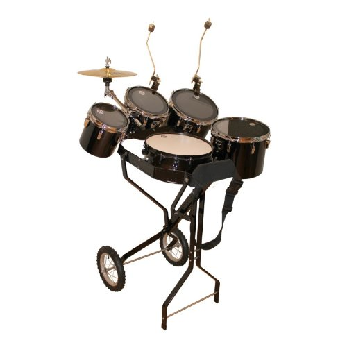 Schlagzeugwagen mit Snare, 4 Toms, 1 Hi-Hat, 2 Beckenhalter