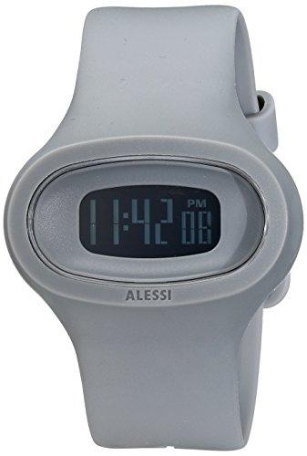 Alessi - AL25005 - Montre Mixte - Quartz Digital - Bracelet Plastique Gris