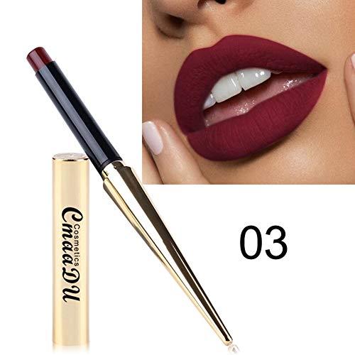 Bobora 12 Farben Matte Nonstick Cup Langlebig Wasserdicht Make-Up Lippenstift seidige Textur Durable...