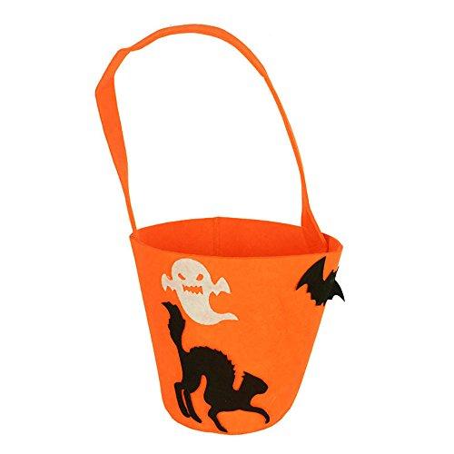 VEMOW Heißer Nette Süße Baby Mädchen Jungen Kürbis Lagerung Halloween Party Zubehör Tasche Einzigen Handtaschen Taschen(Tasche, M)