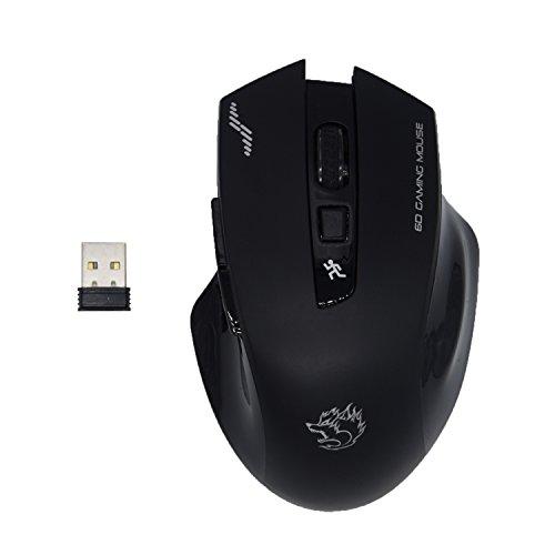 dds-dudes Funk-Maus, optische Maus, mit USB-Empfänger, mit 3verstellbaren DPI-Stufen | 6Tasten für Notebook, PC, Laptop, Computer, MacBook