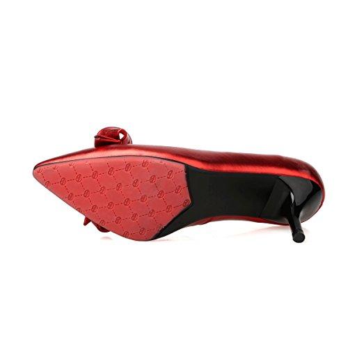 Balamasa, Zapatos De Tacón Alto De Mujer Roja