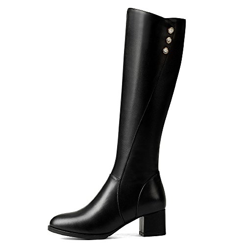 Seven Nine Alto Knee Black Boot Donna 0FnqdOBw