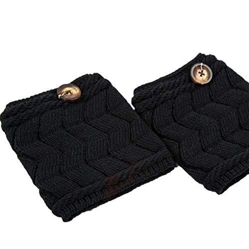 Minzhi 1 Paar Frauen Mädchen Short Stiefel Strick Leg Warmer Winter-Gridding Crochet Toppers Elastic Soft-Boots-Abdeckung