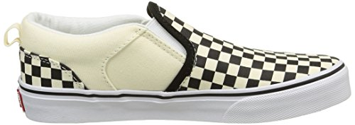 Vans Asher, Baskets Basses garçon Blanc (Checkers/Black/Natural)