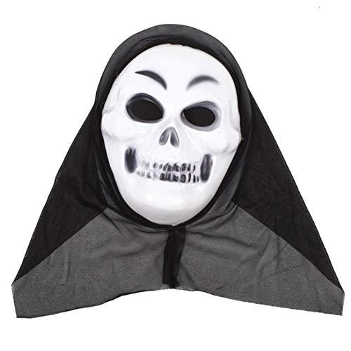 Narr Kostüm Gruselig - YAX Masken 1 Stücke Halloween Kostüm Gesichtsmaske Phantasie Blutiges Kleid Gruselig Halloween Maske Ostern Narren Tag Lustige Maske <Br/> C