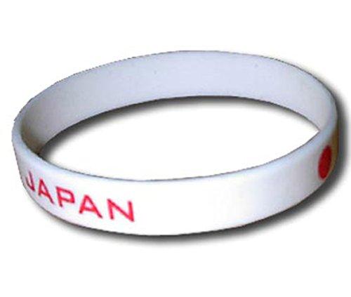Supportershop Japon Bracelet Silicone Mixte Enfant, Blanc, FR Unique Fabricant : Taille One sizeque