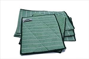 Aqua Clean Lot de 5 chiffons en fibre de bambou cristal