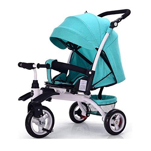 Yankuoo El sistema de viaje 4 en 1, triciclo ligero, andador para bebés, sillín de empuje para niños...