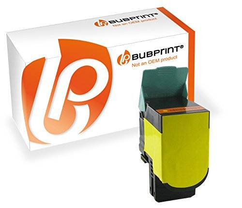 Bubprint Toner kompatibel zu Lexmark CS410 yellow für CS310N CS310DN CS410N CS410DN CS410DTN CS510DE CS510DTE