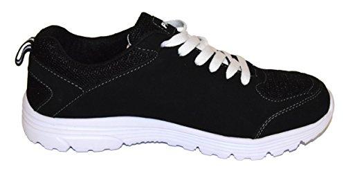 TMY 6207-1 Sportschuhe für Herren und Damen, Farbe Schwarz- Weiß, Gr.: 36-46 Schwarz/ Weiß