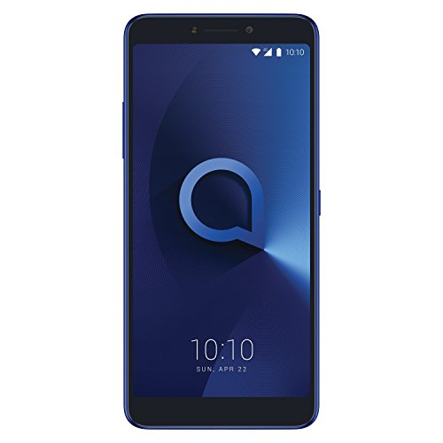"Alcatel 3v - Smartphone de 6"" (Quad-Core 1.45 GHz, Memoria 16 GB Ampliable hasta MicroSD de 128 GB, cámara DE 16 MP AF + 2 MP, Android 8.0) Color Azul"