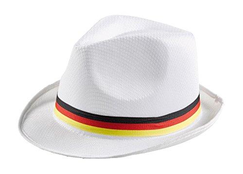 Trilby Hut weiß * Deutschland * mit Hutband