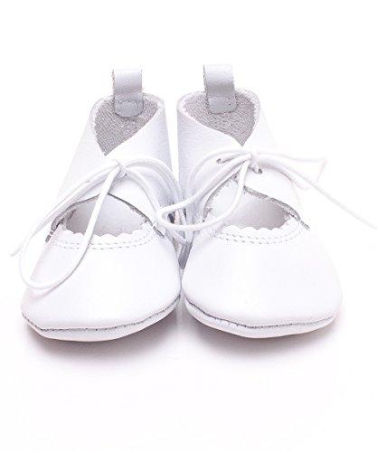 Chaussure De Bébé Poussoir De Cuir Cuir Sandales Chaussures Premiers Pas Chaussures De Bébé White - WHITE